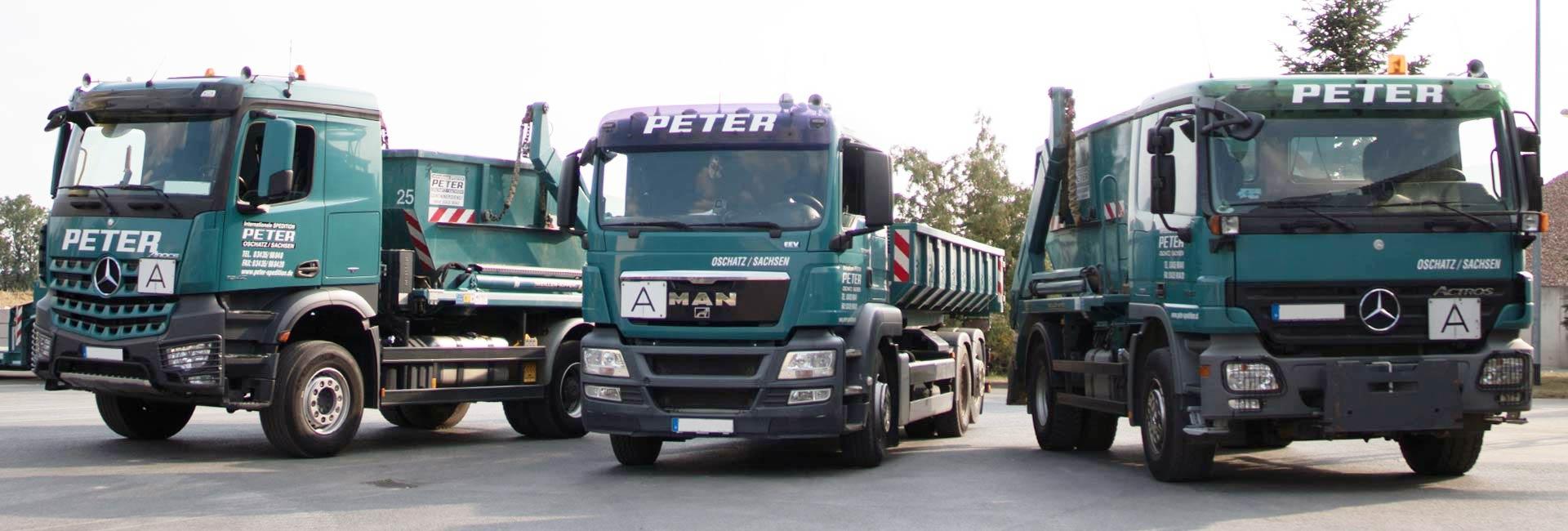 Containerfahrzeuge | Spedition Peter
