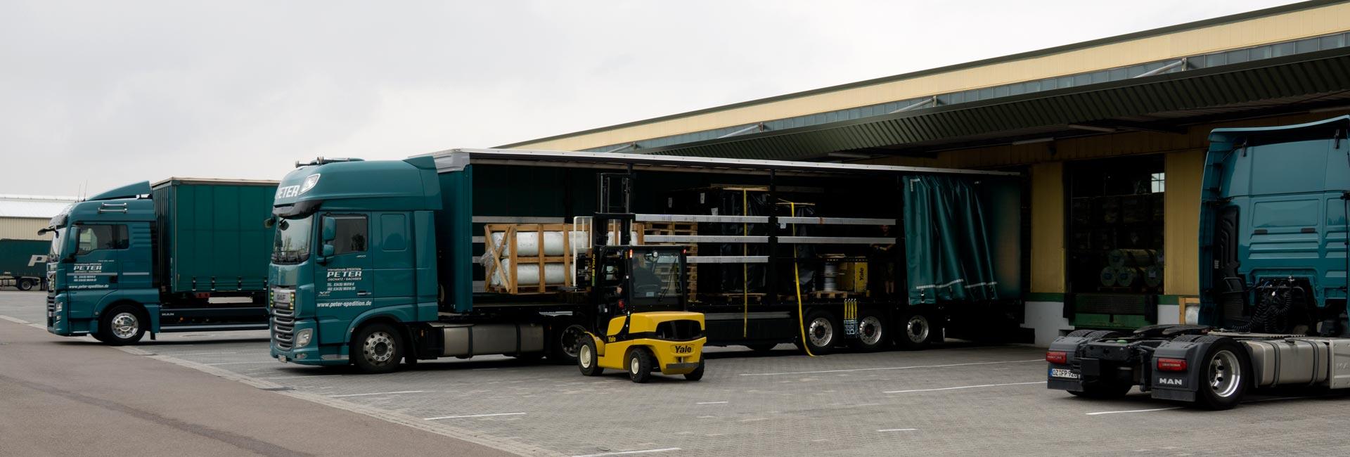 Leistungen im Güterfernverkehr | Spedition Peter