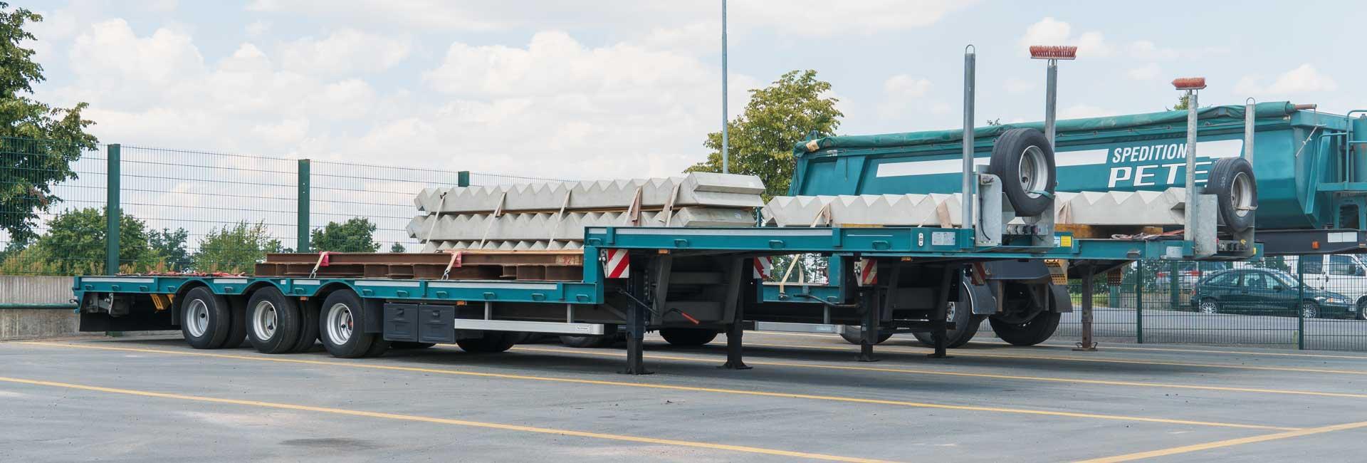 Tiefladertransporte| Spedition Peter